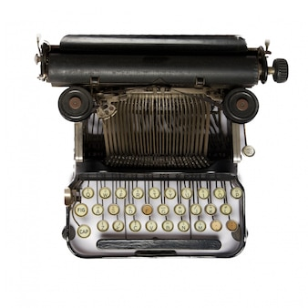 Top view of typewriter