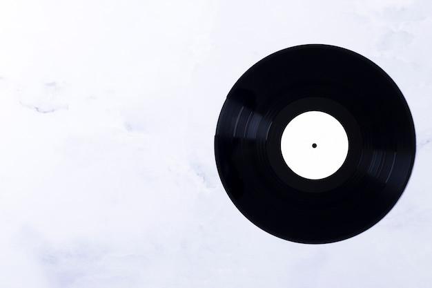 Vista superiore del disco in vinile