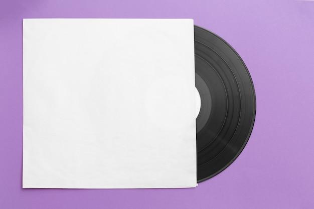 탑 뷰 비닐 레코드 배열