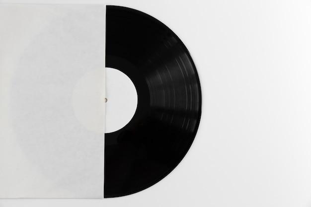 Top view vinyl record arrangement