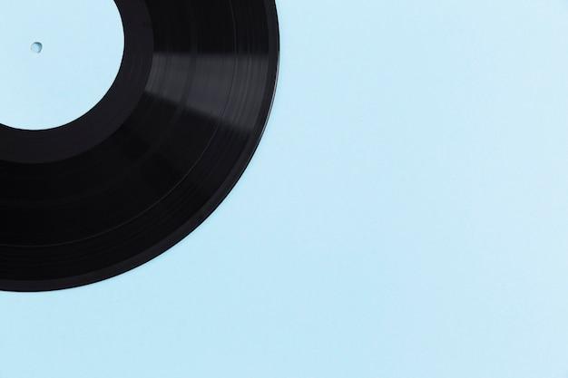 トップビューのビニールレコードの構成