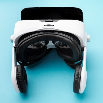 Top view virtual reality headset