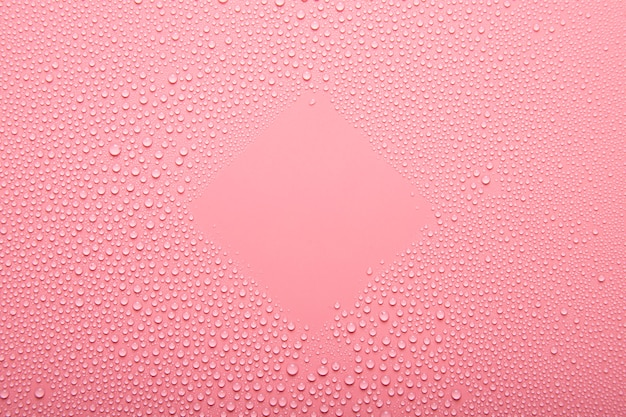 Top view water texture on pink