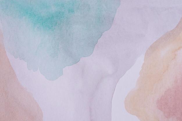 Акварельные краски на бумаге, вид сверху