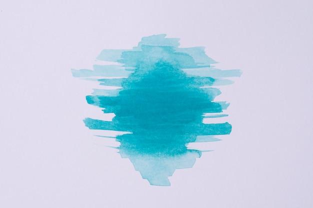 紙の上の平面図の水彩絵の具