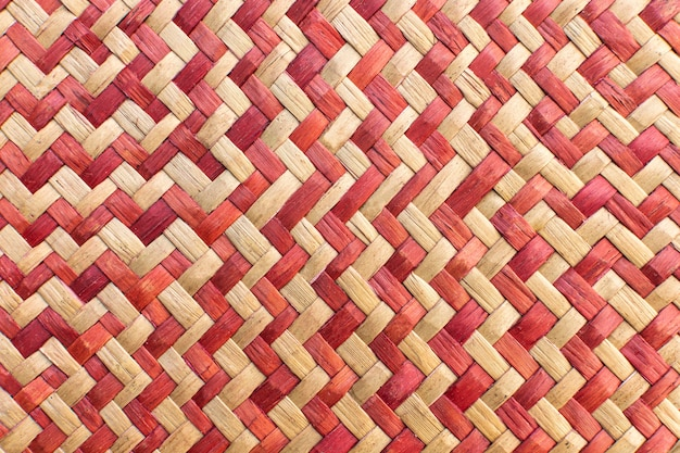 Top view of weaving pattern