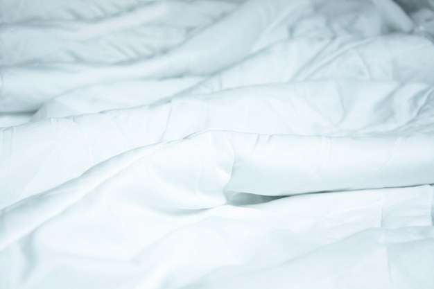Top view of white blankets