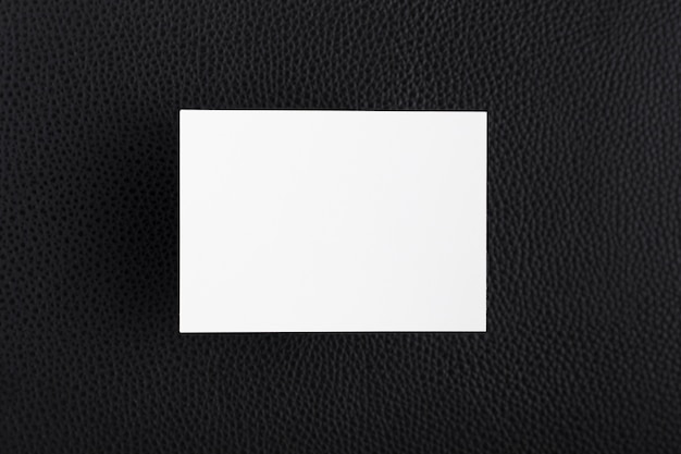Top view white business card