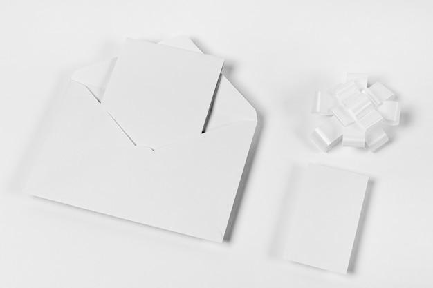 Elementi di capodanno bianco vista dall'alto