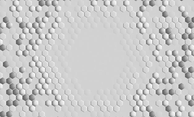 Vista dall'alto sfondo tridimensionale bianco
