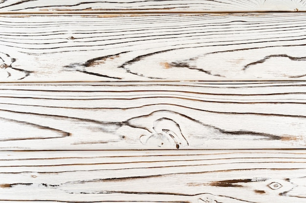 Top view of white wood table texture background