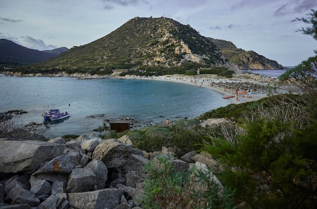 Top view of the whole natural bay of punta molentis