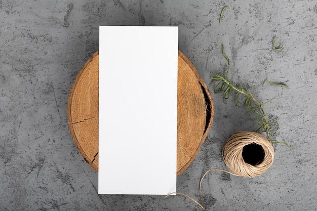 コピースペース平面図木の板