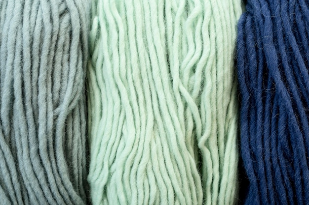 Top view of yarn