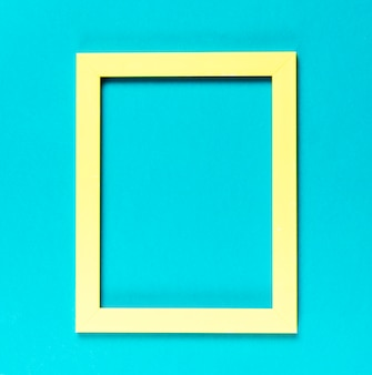 Top view yellow decorative frame