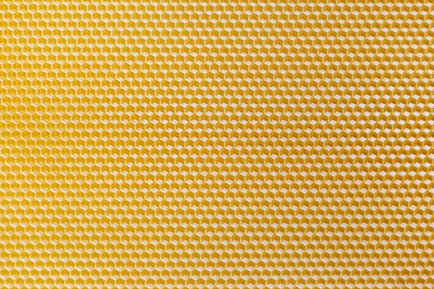 Top view of yellow honeycomb. seamless honeycomb texture.