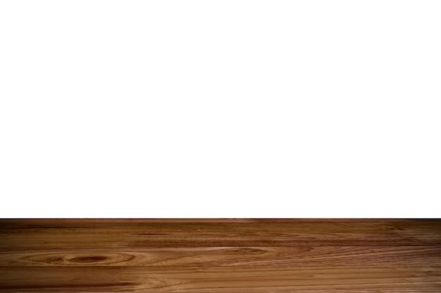 Верхний деревянный стол с белым фоном