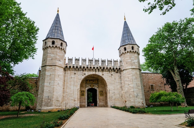 Topkapi palace entrance, istanbul