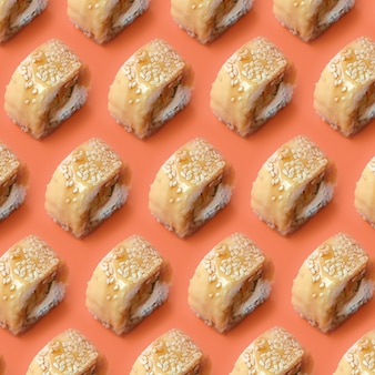 Tori katsu sushi with processed cheese