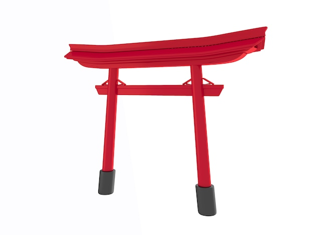 Torii geometric podium japanese tradition podium.