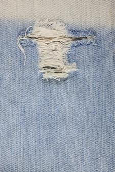 Torn denim jeans texture.