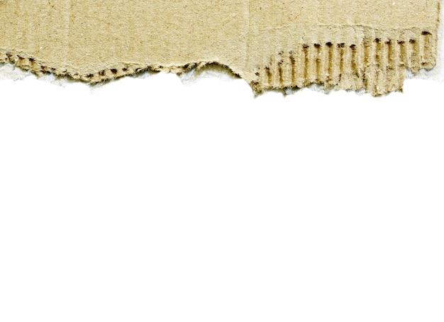 白い背景で隔離の破れた紙