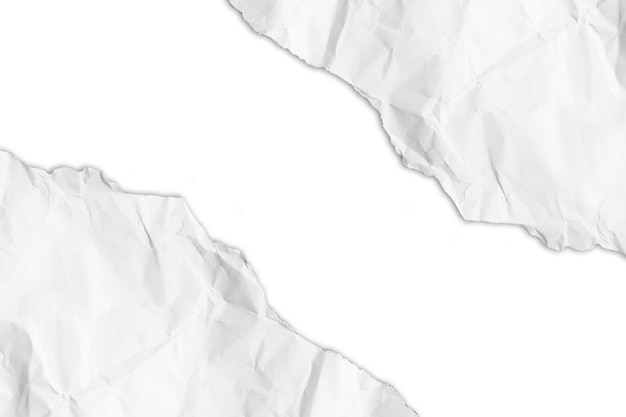 Torn paper on white background with clipping path. copy space.