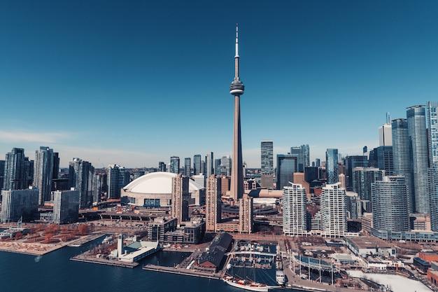 カナダのトロントのスカイラインからの眺め