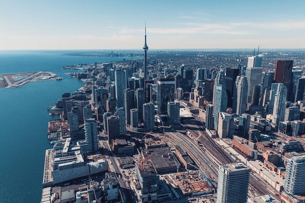 Аэрофотоснимок горизонта торонто, канада