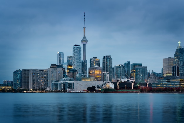 Toronto skyline at the morning