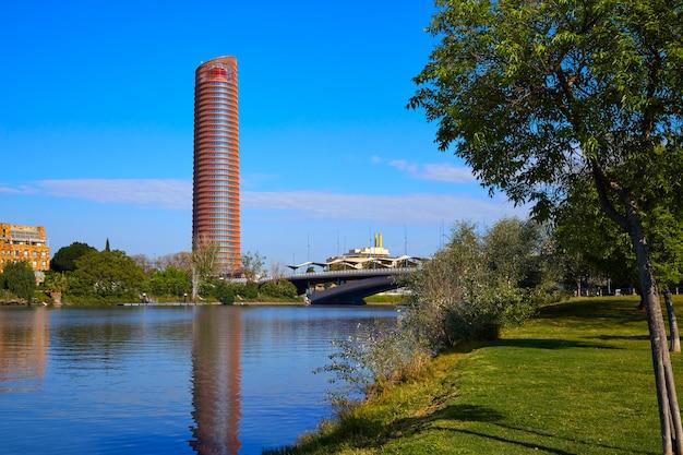 Torre de sevilla and puente cachorro seville
