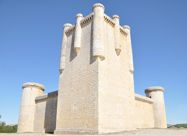Torrelobaton castle is  is one of the most important and best-preserved fortresses in valladolid, castile and leon, spain