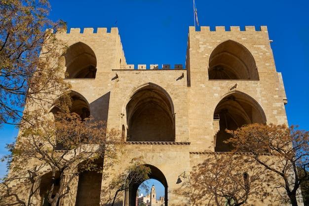 Torres de serrano towers in valencia