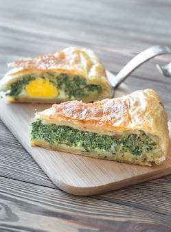 Торта паскуалина - пирог со шпинатом и рикоттой