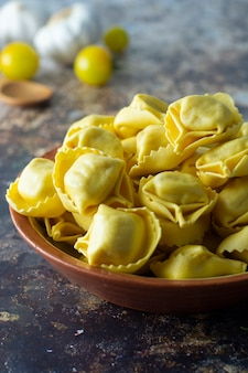 Tortelloni pasta italian traditional pasta with meat or vegetables