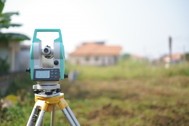 Total station or electronic distance measurement
