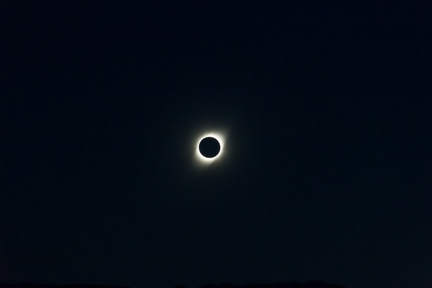 Total sun eclipse seen from cordoba argentina