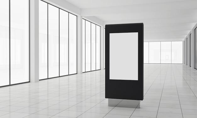 Totem and kiosk digital signage 3d rendered