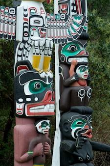 Totem poles at Stanley Park, Vancouver, British Columbia, Canada