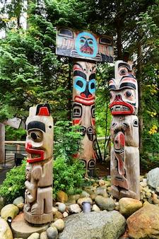 캐나다 밴쿠버의 토템 기둥