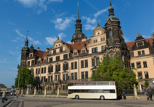 Tour bus at european attractions