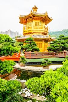 Tourism bridge temple lin pavilion