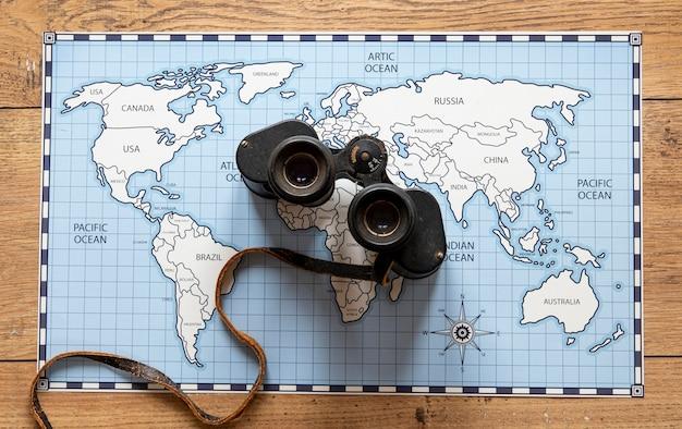 観光要素の配置フラットレイ