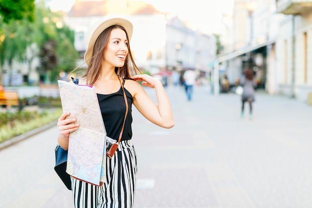 Tourist in city