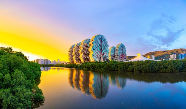 Tourist complex beauty crown hotel in sanya is the largest hotel in the world