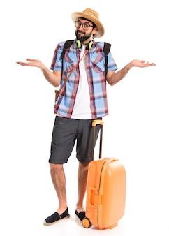 Il turista fa un gesto importa