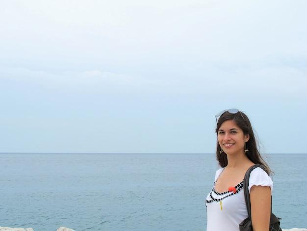 Tourist woman sightseeing in croatia