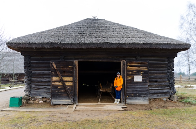 Tourists visited the museum of architecture and rural life