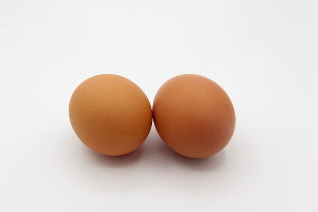 Tow eggs isolated on white