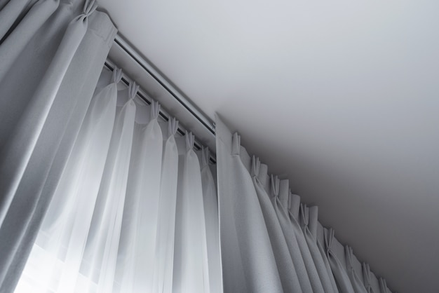 Tow layers curtain with rails